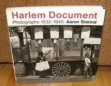 SIGNED Aaron Siskind Harlem Document Photographs 1932 1940 New York PB DJ