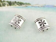 20pcs Tibetan Silver 2-hole Spacer Beads For Jewelry Make