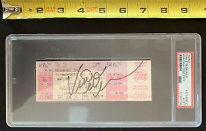 VINCE MCMAHON Signed 1995 WWF Hall Of Fame Ceremony UNUSED TICKET ~PSA DNA Slab