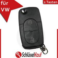 Volkswagen pliante clé 2 Boutons Boîtier vw polo t4 Golf Bora passat brut