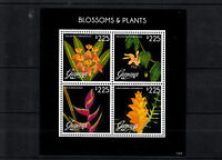 Guyana 2013 MNH Blossoms & Plants II 4v M/S Heliconia Passiflora Flowers