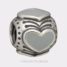 Authentic Pandora Silver Enamel Light Grey Hearts Bead 790591EN26 SPECIAL!!!