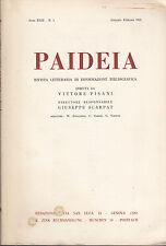 PAIDEIA 1963 ANNATA COMPLETA - RIVISTA LETTERARIA INFORMAZIONE BIBLIOGRAFICA