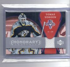 2007-08 UPPER DECK TRILOGY TOMAS VOKOUN HONORARY SWATCHES JERSEY CAPITALS