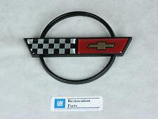 NEW 1984-1990 C4 Corvette Gas Lid / Fuel Door Rear Deck Emblem - GM Licensed