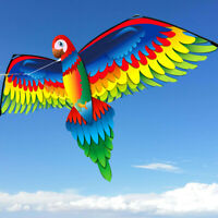 New 3D Single Line parrot Kites Outdoor Fun Sports Beach Single Line Kite GREEN
