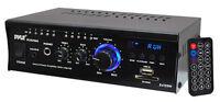 PCAU46A 2 x 120 Watt Stereo Mini Power Amplifier USB/SD AUX Player & Remote
