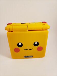 Nintendo Gameboy Advanced SP Pikachu Edition AGS-001 Refurbished