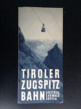Rare ancien dépliant Brochure Tiroler Zugspitz Bahn TBE