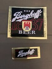 Irtp Berghoff 1887 Beer Label And Neck Label
