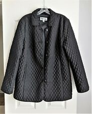 Marvin Richards Black Quilted Button Front Jacket, Size XL, Lined