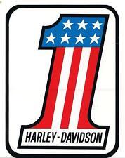 HARLEY DAVIDSON  LARGE  #1 DECAL / STICKER 99344-79v ONE DECAL
