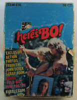 1981 Fleer Here's Bo! - Bo Derek Full Box of 36 Sealed Trading Card Packs