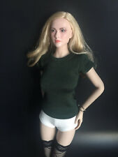 """1/6 Scale Women's Green T-shirt For 12"""" Female Action Figure doll"""