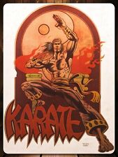 vTg 70s MARVEL Comic Book Master of Kung Fu Bruce Lee TV KARATE t-shirt iron-on
