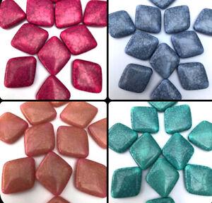 10 x 25mm Crackle Diamond Acrylic Gemstone effect Jewellery Making Beads