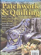 British Patchwork & Quilting July 2002 Round Robin Stenciled Baltimore Crazy