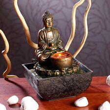 Beleuchteter Zimmerbrunnen Zimmerspringbrunnen Zimmer-Brunnen mit Buddha-Statue