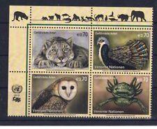 UNO WIEN 2012 - Gefährdete Arten (XX), Nr. 749 - 752 Zd., postfrisch **