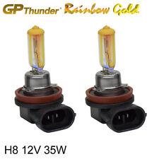 GP Thunder 2500K Rainbow Gold H8 12V 35W Xenon Light Bulbs Pair