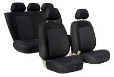 KARO Komplett Set Universal Autositzbezüge Sitzbezüge Schonbezüge schwarz