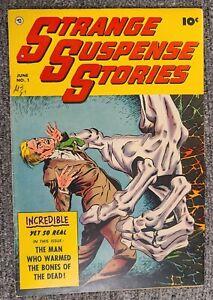 Strange Suspense Stories #1 **HIGH GRADE**  VF book.  7.0 - 8.0. PRE CODE HORROR