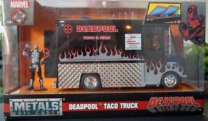 Chevrolet P 30? Food Truck Imbißwagen black Deadpool Tacos 1:24 Jada 30540