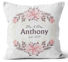 Personalised Any Text Name Cushion Floral Design Mothers Day Wedding Gift 91