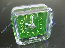 Mini Portable Handy Travelling AA Cell Battery Power Quartz Alarm Clock SY03RC
