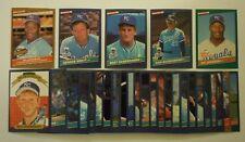 1986 Donruss Kansas City Royals Team Set w/ Highlights and Rookies Bo Jackson
