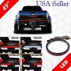 """49"""" Inch LED Tailgate Brake Light Bar Turn Signal Left Right + White Reverse"""