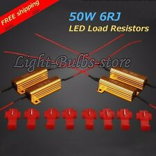 4 pcs Load Resistor 50W 6ohm  Turn Signal Blinker Fix LED Bulb Hyper Flash