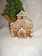 Lefton Church/Cathedral Tea Light Candle Holder 1986 Hand Painted Porcelain