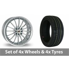 """4 x 15"""" Team Dynamics Jet Silver Alloy Wheel Rims and Tyres -  195/45/15"""