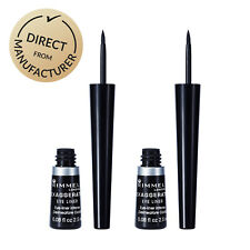 Rimmel Exaggerate Eyeliner - Long Lasting + Smudge Proof - 2 x Pack