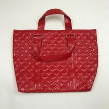 VINTAGE MARC JACOBS QUILTED LEATHER RED TOTE BAG WOMEN'S NEW