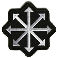 Embroidered Chaos Arrows Sew or Iron on Patch Biker Patch