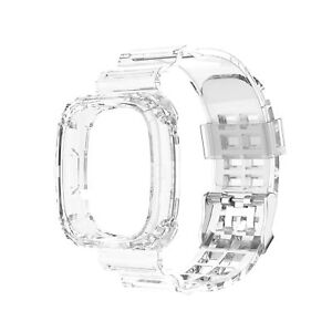 For Fitbit Versa 3/ Fitbit Sense Watch Soft Silicone Clear Bracelet Strap Band