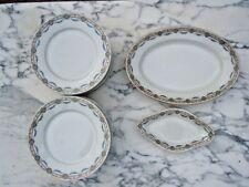 Service de table assiettes plats décor fleurs céramique 19ème