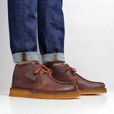 Clarks Originals Mens * Desert trek Hi - Premium COLA Lea * UK 6,7,8,9,10,11 G