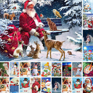 5D DIY Christmas Snowman Xmas Full Drill Rhinestone Diamond Painting Kit Gifts