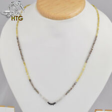 26.04 Carats Rough Diamond Strands Multi-Color with Silver Lock, 20 inches