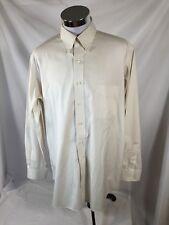 Paul Fredrick 17-36 Light Gray Button Down Long Sleeve Dress Shirt 100 % Cotton