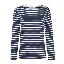 Seasalt Sailor Ladies Shirt (aw16) Uk14 Eu42 Us10 Breton Night Ecru