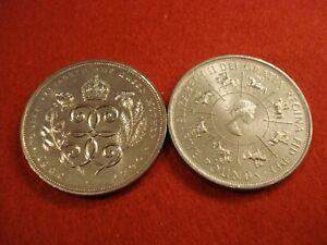 2 British £5 Coins 1990, 1993