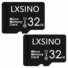 LXSINO 32GB Micro SD Card Class 10 UHS-I U1 V10 TF Flash Memory Card - 2 Pcs