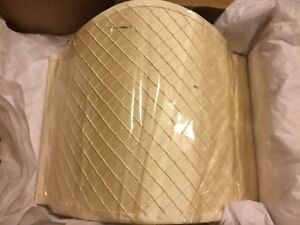"NEW Beige Silk Wall Sconce Shield Lamp Half Shade - 12.25""T x 14.5""W"