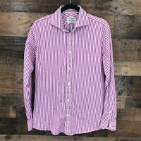 Spier & Mackay Men's Contemporary Fit Purple & White Stripe Long Sleeve