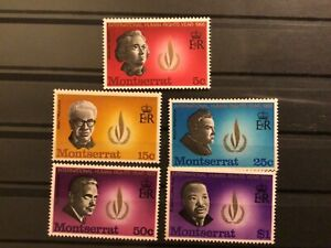 Montserrat stamps QEII 1968 human rights year MNH