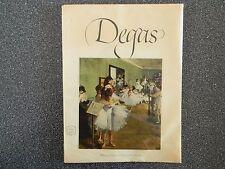 Degas Vintage Art Book Copyright ( 1952 ) 16 Color Prints